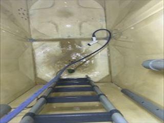 温泉タンク貯水槽清掃
